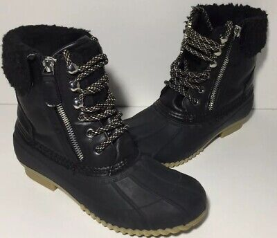14625b77e39 TOMMY HILFIGER WOMEN'S Rain/Snow Duck Boots Size 6 Fur Lined Leather ...