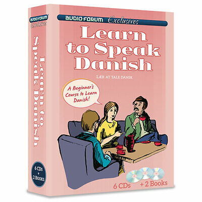 Learn to Speak Danish (6 CDs/Books) by Audio Forum - *NEW in BOX*