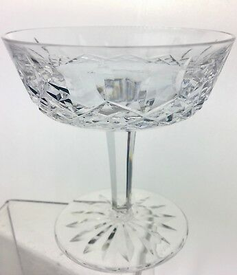 Waterford Signed Cut Crystal Champagne Dessert Coupe Glass Lismore