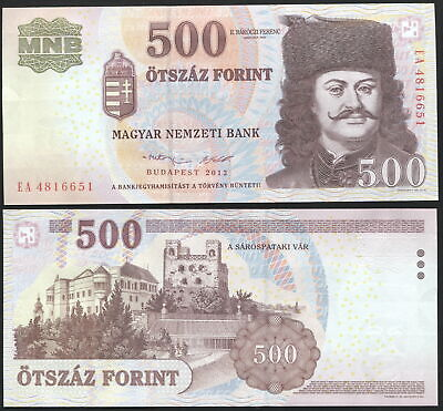 Hungary 500 Forint. 2013 UNC. Banknote Cat# P.196e