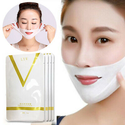 Womens Beauty Face-lift V Shape Face Slimming Mask Reduce Double Chin Patch