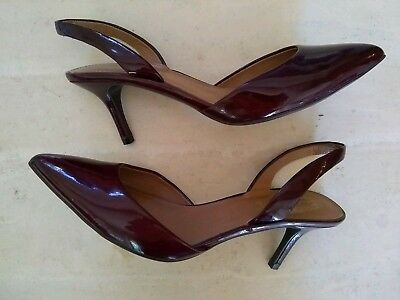 220012d5825 New Elie Tahari Patent Leather 3 Inch Heels Size 38.5 EU  US 8.5 Merlot  Holiday