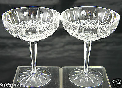 Lenox Clear Crystal Champagne/Dessert/Sherbet Glass Pair