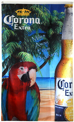Corona Extra Miles Away From Ordinary Premium 3X5FT Banner Flag US Seller