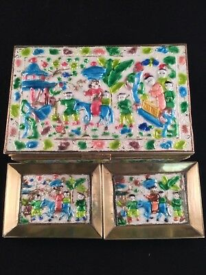 Antique Chinese Box with two Trays