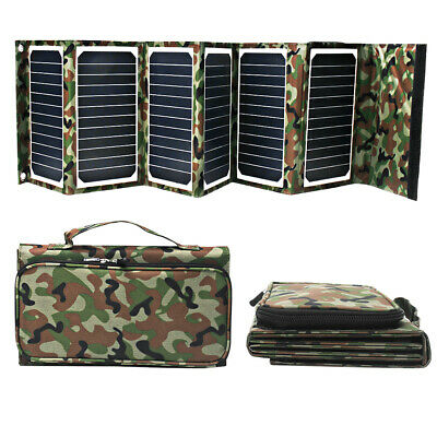 40W 7W 5W 18V 5A Solar Battery Panel Charger,3A Fast Charging Powerbank Case Kit