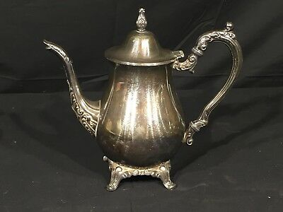 Oneida Tea Pot Silver Plated Silver Dinnerware Serving Kitchen USA OL on Bottom