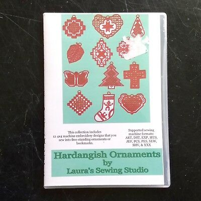 Hardangish Ornaments CD Hardanger Christmas Patterns Laura's Sewing Studio