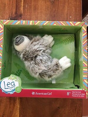 American Girl Lea Clark's Three-Toed Sloth Plush Pet Animal NEW