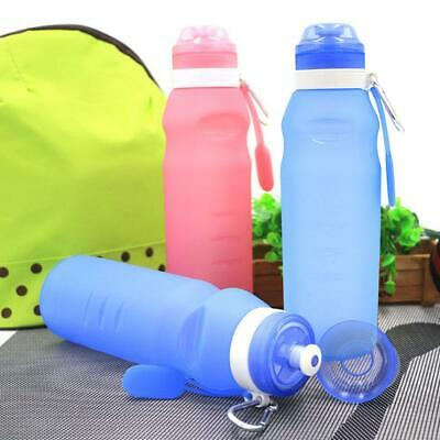 600ML Silicone Kettle Drink Folding Collapsible Sports Travel Water Bottle