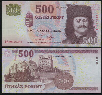 Hungary 500 Forint. 2011 UNC. Banknote Cat# P.196d