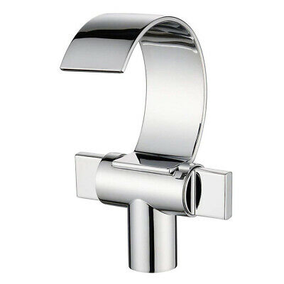 Bathroom/Kitchen Faucet Waterfall Sink Mixer Tap Two Handles Solid Brass Chrome