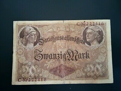 Banknote Germany 1914( f)20 Reichsmarks.