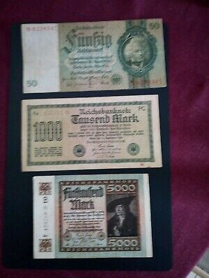 Banknotes Germany 1933,1922+1922 Reichsmarks .