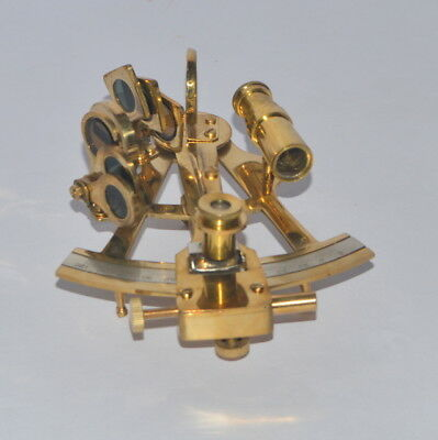 Nautical Brass 5 Inch Sextant Antique Style Astrolabe Ships Instrument Gift