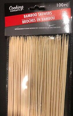 Cooking Concepts Bamboo Skewers Packs Palitos de Pinchos 100-ct