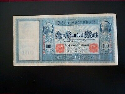 Banknote German 1910(VF)100 marks(Battleship note).