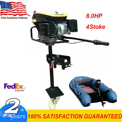 NEW 8.0HP 4 Stroke Outboard Motor Boat Engine with Air Cooling System Heavy Duty