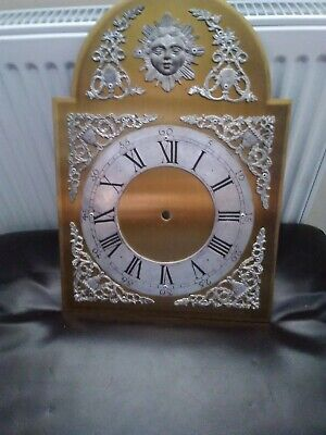 """VINTAGE GRANDFATHER Clock dial heavy construction 11"""" x15"""""""