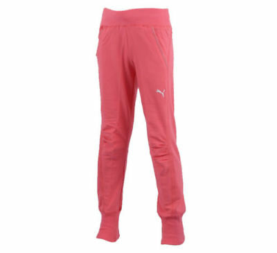 PUMA Originals Junior Sweat Pants Girls Teens Pink Tracksuit Bottoms BNWT