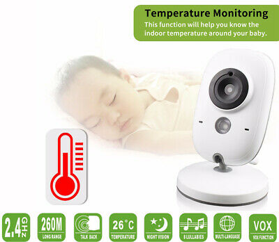"3.2"" LCD Baby Pet Monitor Wireless Digital 2 Way Audio Video Camera Security AU"
