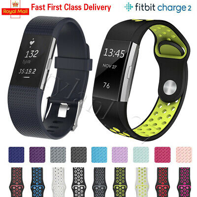 For Fitbit Charge 2 Strap Sports Wrist Band Silicone Replacement Small Large