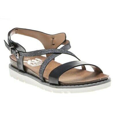 XTI WORLDSilver Woven Sandals UK 5