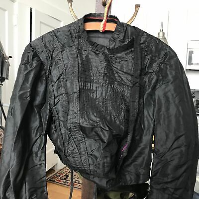Antique Victorian Silk Satin Bodice Blouse Black