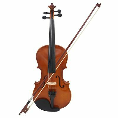Astonvilla Full Size 1/8 Violin Natural Acoustic Solid Wood Spruce Flame Ma D2Y4