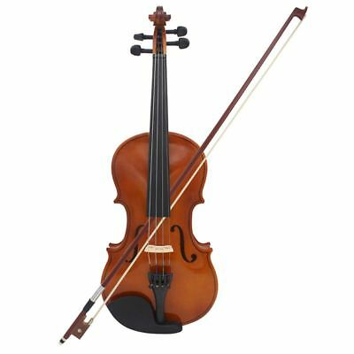 Astonvilla Full Size 4/4 Violin Natural Acoustic Solid Wood Spruce Flame Ma L2P3