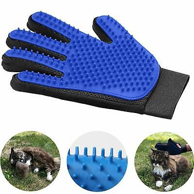 Pet Dog Cat Grooming Glove Gentle Deshedding Brush Glove Pet Hair Remover Mitt