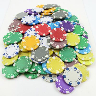 150 x Dice Style Poker Chips - ABS/CLAY END OF LNE COLOUR SHADE REJECTS