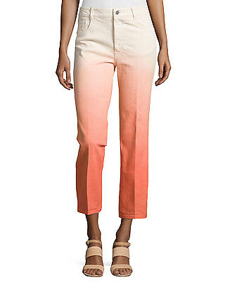 STELLA MCCARTNEY Ombre Cropped Denim Jeans Made In Italy Size 27 NWT $535