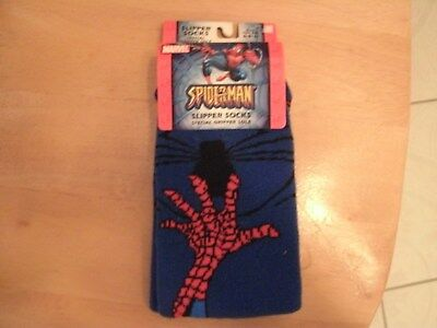 MARVEL SPIDERMAN CHILDREN SLIPPER SOCKS  ONE SIZE FITS 6-8 1/2 (6 to 9 Years old
