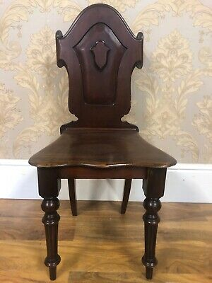 Lovely Antique Victorian Mahogany Shield Backed Hall chair.