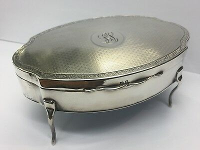 Antique Sterling Silver Jewellery Box By Mappin And Webb C.1916