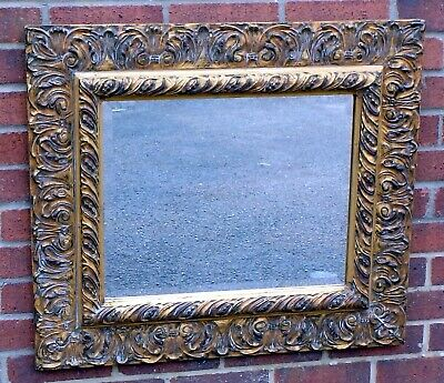 Regency George III antique style acanthus giltwood bevelled wall hall mirror