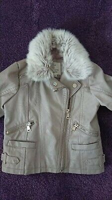 74757799f RIVER ISLAND GIRLS Faux Leather Jacket Age 6 Years - $10.46 | PicClick