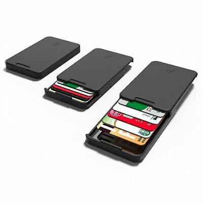 The Ingenious Wallet BLACK with RFID Blocking Card The MINIMALIST &INGENIOUS NEW