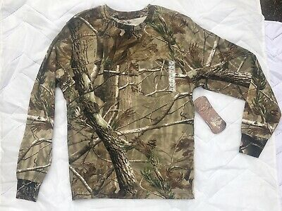 e06c922320103 Outdoors Mens Realtree AP Camo Sport Long Sleeve T Shirt Sizes S-2XL NEW