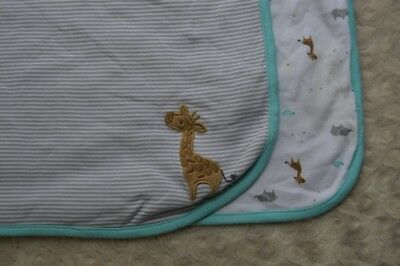 Carter/'s Just One You Baby Blanket blue gray elephant tiger new #401