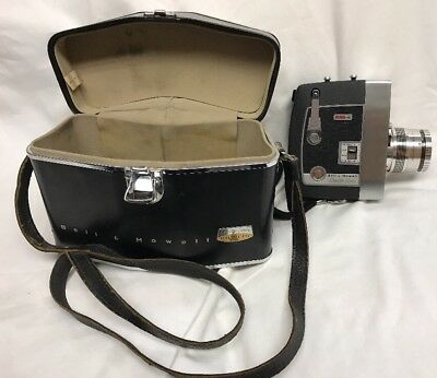 Vintage Bell & Howell Zoomatic Duo Power Zoom Director Series 8mm Movie Camera