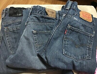 17d0ae5a Lot Of 3 Pairs Of jeans Tony Hawk Levi Urban Pipeline Size Boys 14R Straight