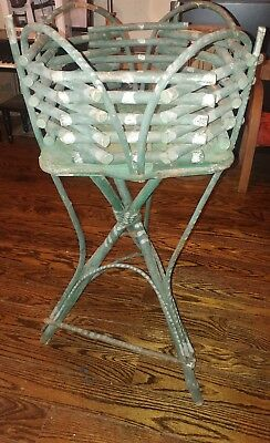 Antique Appalachian Adirondack style bent willow twig planter