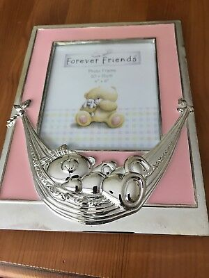 BNIP Silver Plated Photo Frame ...pink...new Baby