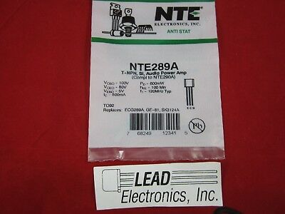 NTE NTE54 NPN,Si,High Freq Driver for Audio Amplifier **AUTHORIZED DISTRIBUTOR**