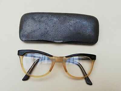 alte Brille vintage retro Rockabilly orig.  50er 60er   & Metalletui