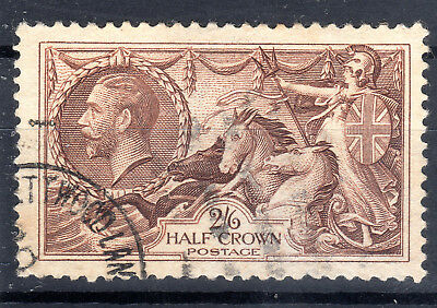 GB KGV Seahorses 2/6d SG450  Cat £40 1934 re engraved used