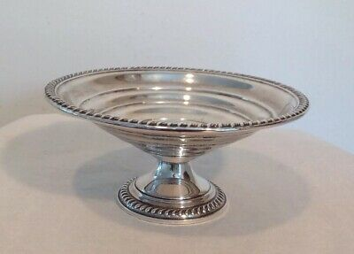 Vintage Empire Sterling Silver Weight Compote Pedestal Bowl Candy Dish Gadrooned
