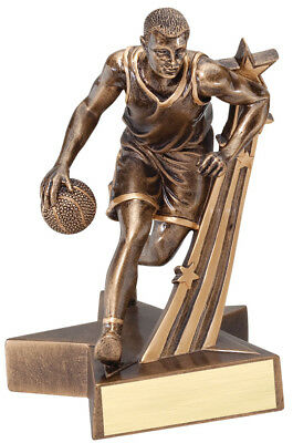"""BASKETBALL (MALE)  Superstar Resin Trophy - Engraved Free  Speedy Shipping 6.5"""""""
